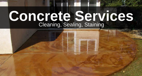 Concrete Services, Concrete cleaning, concrete sealing, concrete staining by CC's Painting