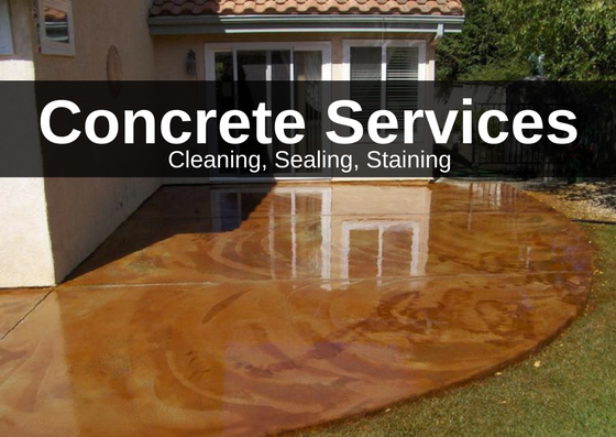 Concrete cleaning sealing staining services for Concrete cleaning service