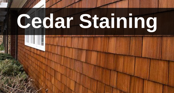 cedar staining by CC's Painting Services