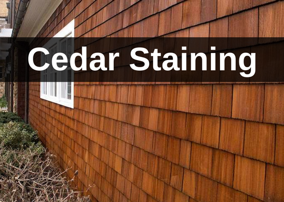Cedar Staining Wisconsin Cc S Painting Call 262