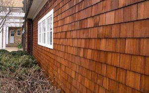 cedar siding painting with CC's Painting in Pewaukee, WI