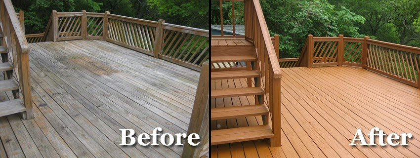 Deck Cleaning, Sealing