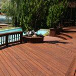 deck cedar staining