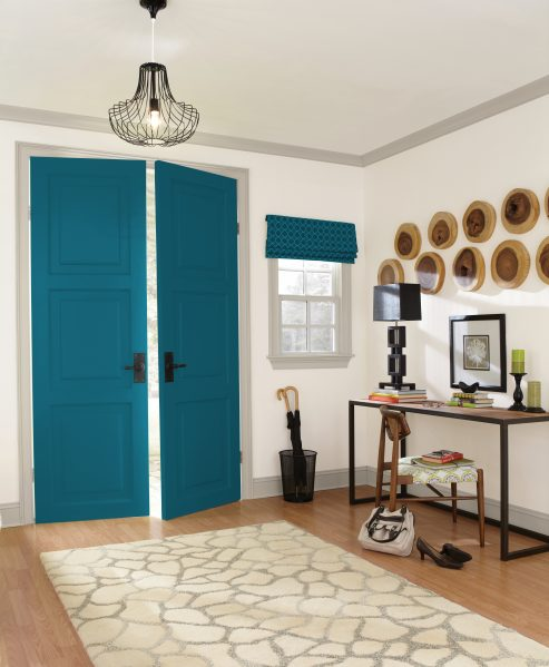 Sherwin-Williams color of the year Oceanside entry way doors