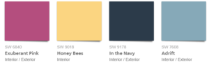 Sherwin-Williams 2018 color of the year Oceanside accent colors by them