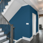 different interior paint finish types beautiful navy hallway