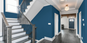 different interior paint finish types beautiful navy hallway
